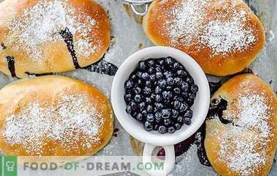 Patties with blueberries - for great joy! Recipes for Homemade Blueberry Pies: Baked and Fried