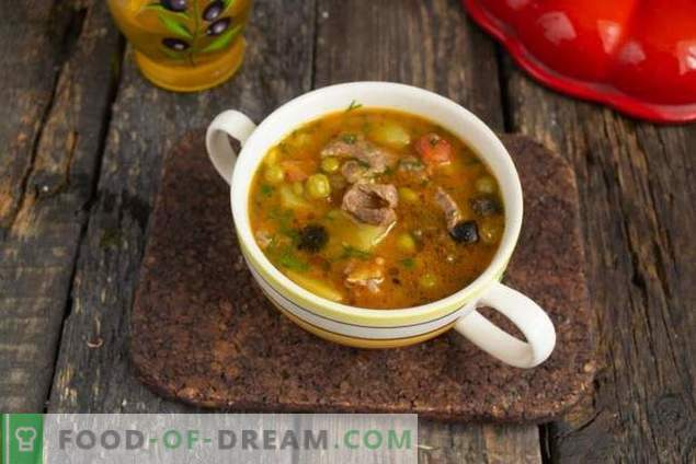 Quick Pea Beef Soup