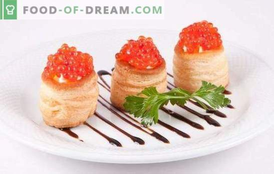 Tartlets with caviar - a welcome snack! Recipes elegant and delicious tartlets with caviar and other additions