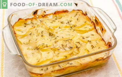 "Potatoes in sour cream in the oven are the ""king"" of vegetables on your table. Favorite recipes for potatoes baked in sour cream"