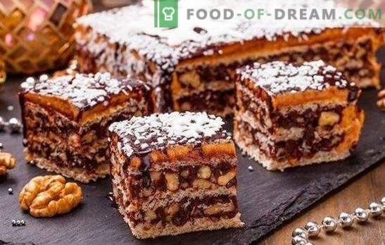 King cake without flour - a gorgeous dessert! Simple recipes of the royal cake without flour with starch, nuts, crackers