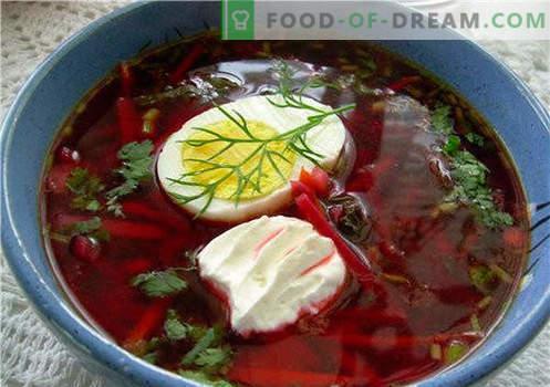 Rote Beete, klassische und scharfe Rote Beete sind die besten Rezepte. Wie man richtig und schmackhaft Rote Beete kocht.