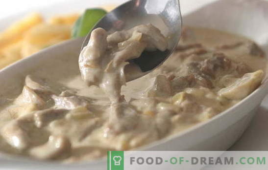 Meat in cream is very difficult to spoil. 9 best recipes for various types of meat in a creamy sauce: chicken, beef, pork
