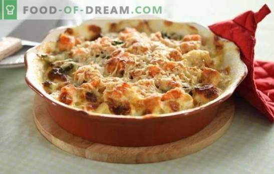 Cauliflower with meat - the ease of a wholesome meal! Simple recipes stewed, baked, fried cauliflower with meat