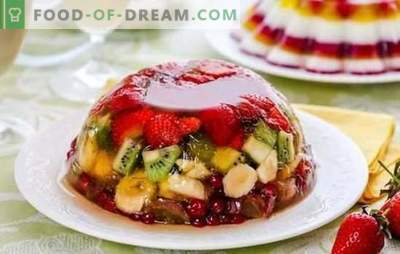 Jelly with fruit is a light and bright delicacy. Original recipes of fruit, dairy, sour cream jelly with fruit