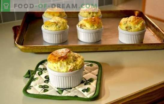 Cheese soufflé is a miracle on a plate! A selection of recipes for ordinary cheese soufflé, with chicken, vegetables and from Gordon Ramsay