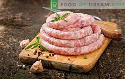 Homemade pork and beef sausage: quality and economy. Homemade pork and beef sausages - delicious!