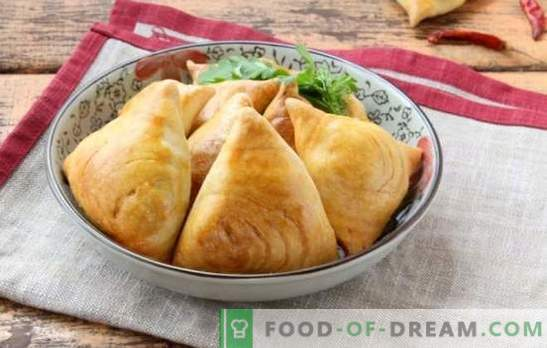 Samsa Uzbek - baking comes from the east. The best recipes for puff Uzbek samsa with lamb, potatoes, pumpkin and chicken