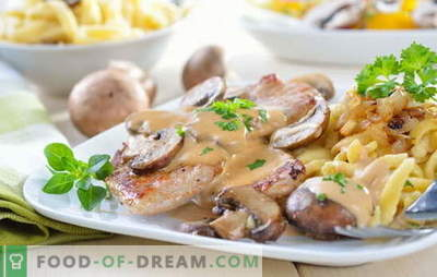 Pork with potatoes and mushrooms: fried, baked, stewed. Interesting variations of cooking potatoes with pork and mushrooms