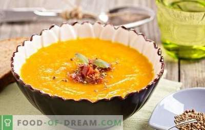 How to cook a delicious pumpkin soup with ginger? Recipes for ginger soup: with cream, potatoes, coconut milk