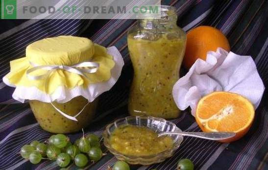 Gooseberry jam with oranges is a fragrant, healthy delicacy. Original and simple recipes of gooseberry jam with oranges
