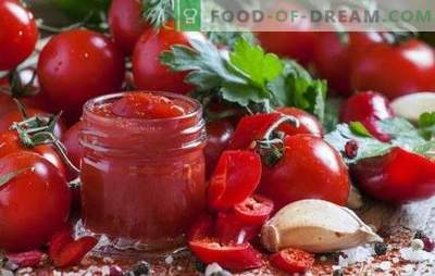 Homemade ketchup - this is useful and quite simple. Interesting recipes of homemade ketchup from tomatoes, peppers, gooseberries, apples, plums and cherries