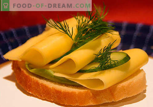 Cheese sandwiches are the best recipes. How to quickly and tasty cook sandwiches with cheese.