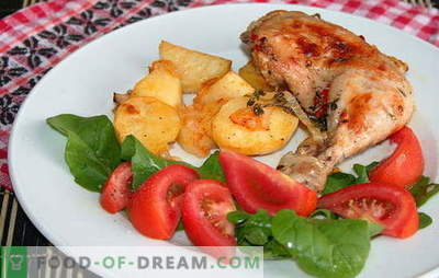 Original recipes for spicy chicken legs with potatoes in the oven. Ham with potatoes in the oven: tasty, fast and easy