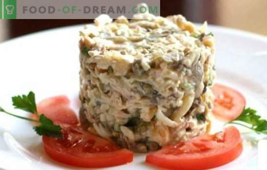 Chicken and ham salad - the best proven recipes. Delicious salad with chicken and ham: add mushrooms, pineapples or nuts?