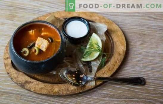 Fish solyanka is a bright spotlet! Recipes aromatic, nourishing solyanka with canned food, mushrooms, cabbage, pearl barley, cucumbers