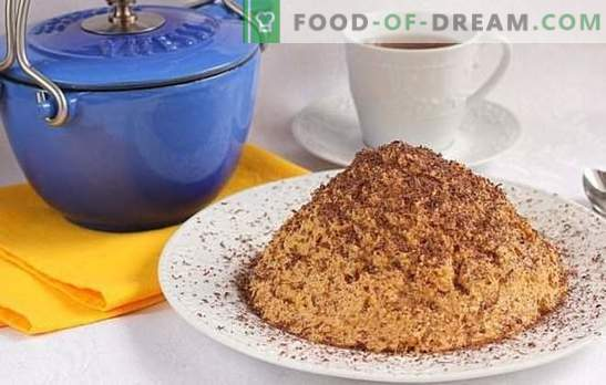 "The ""Anthill"" cake with condensed milk is super-simple! Recipes cake"