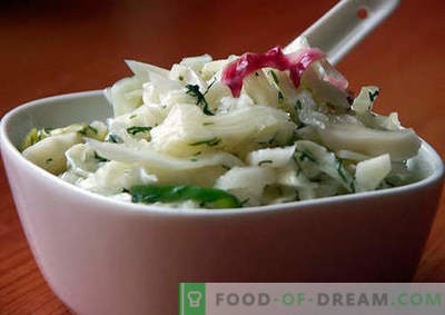 Salad with pickled onions - a selection of the best recipes. How to properly and tasty to prepare a salad with pickled onions.