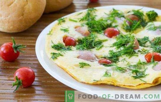 Omelet with sausages - a simple and rich breakfast! Cooking delicious omelets with sausages in the oven, microwave, slow cooker and pan
