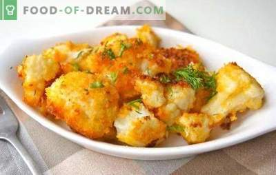 How to fry cauliflower (fresh, frozen) is delicious. Recipes for fried cauliflower in breading, batter, in egg, with vegetables