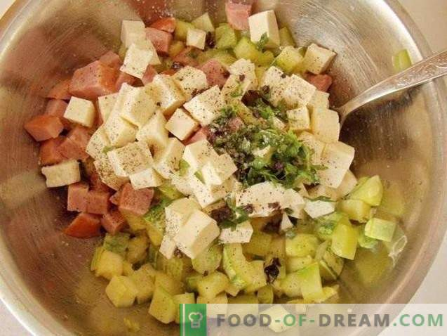 Mediterranean Pie with Zucchini, Ham and Cheese