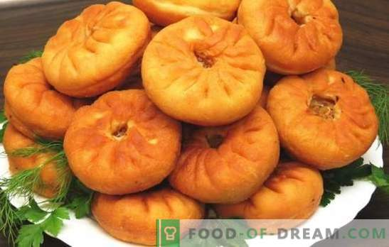 Belyashi with meat in a pan - leaky pies! Recipes of various whites with meat in a pan: yeast and kefir