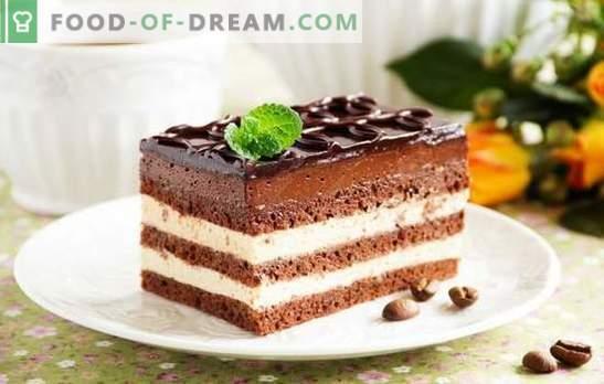 Opera cake - a harmonious dessert. Recipes of various Opera cakes with currants, coffee, nuts, Swiss cream