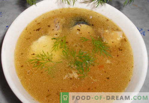 Mackerel soup - the best recipes. How to properly and tasty cook soup and mackerel.