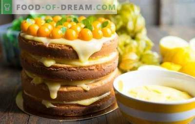 Cake with lemon - mood charge! Recipes amazing cakes