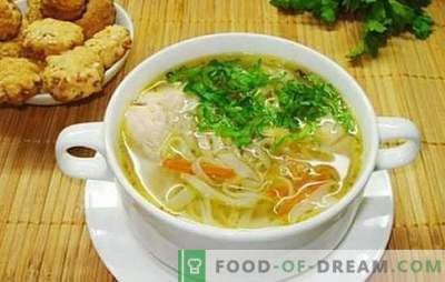 Flavored noodle soup with chicken: step by step. It is easy and simple to cook chicken noodle soup with proven step-by-step recipes: check?