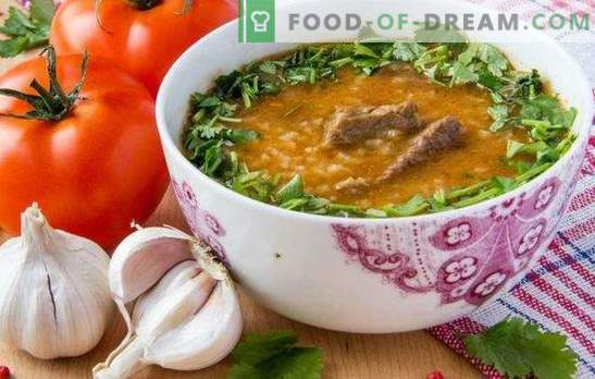 Kharcho in Georgian is a traditional soup of Georgian cooking. How to cook kharcho in Georgian with beef, lamb