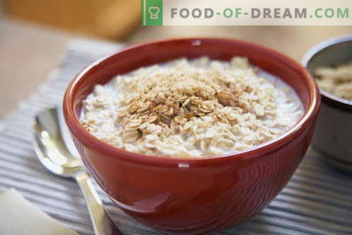 Oatmeal - the best recipes. How to cook porridge.