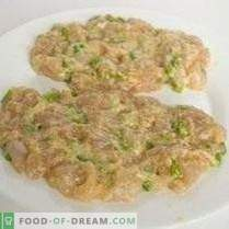 Chopped Chicken Cutlet with Kohlrabi and Garlic Arrows