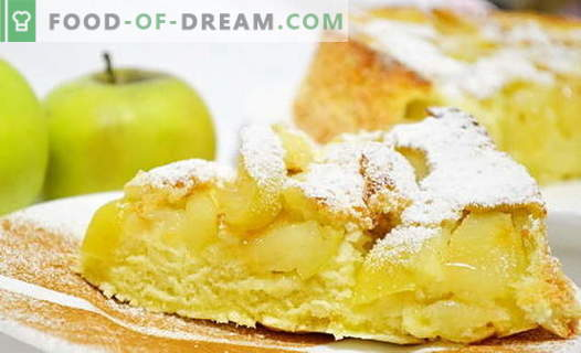 Charlotte with apples in the oven - 6 best recipes. How to properly and tasty cook a classic and unusual charlotte with apples in the oven.