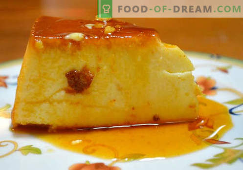 Milk pudding - the best recipes. How to make milk pudding correctly and tasty.