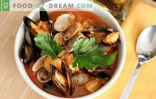 Seafood soup: mussels, shrimp, squid, octopus. Recipes for cooking soup with seafood for every taste