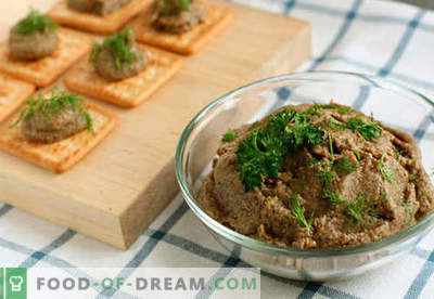 Beef liver pate - the best recipes. How to properly and tasty cook beef liver pate.