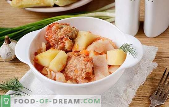 Vegetable stew with meatballs in a slow cooker: a hearty and beautiful dish. Author's step-by-step photo-recipe of cooking in a multivariate vegetable stew
