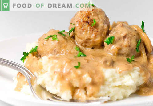 Meatballs in sour cream sauce - proven recipes. How to properly and tasty cooked meatballs in sour cream sauce.
