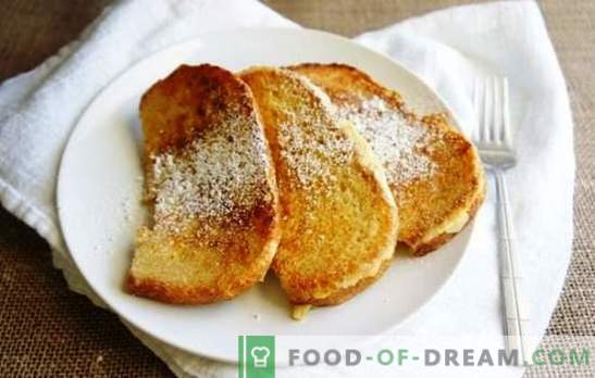Bread in milk in a pan - croutons, sweet, spicy, and to the broth. Fry ruddy bread croutons in milk in a pan