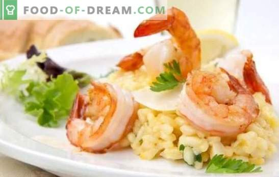 Risotto with seafood - Italian rice. The best recipes, subtleties and tips on cooking risotto with seafood