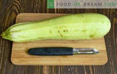How to clean the zucchini - young or old, for different dishes. How to clean the zucchini correctly, professionally?