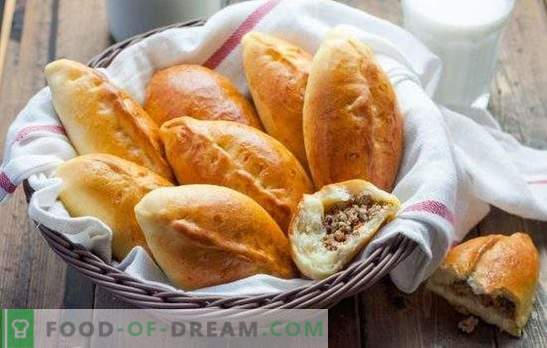 Meat patties (step-by-step recipe) is a favorite pastry for snacking. Pies with meat, step-by-step recipe: in the oven and fried in a pan