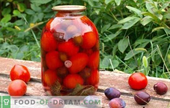 Tomatoes with plums for the winter - we will remember the summer! Recipes and secrets of cooking blanks of tomatoes with plums for the winter