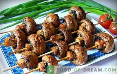 Marinade for champignons - the best recipes for fragrant mushrooms. Marinade for mushrooms on the grill on the basis of sour cream, soy sauce, wine