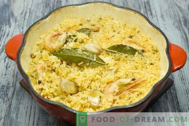 Pilaf with chicken and shrimp