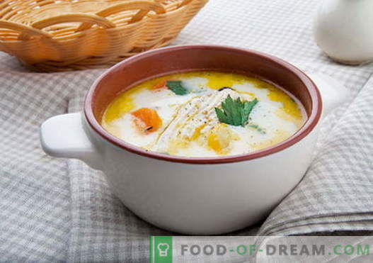 Cheese soup with chicken - the best recipes. How to properly and tasty cook cheese soup with chicken.