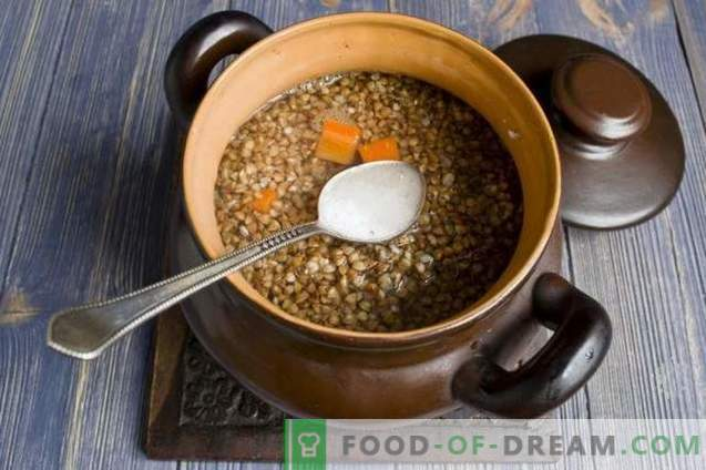 Buckwheat with chicken in the oven