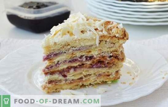 "Homemade puff cake ""Stretka-rag"" - taste from childhood! Recipes puff pastry and creams for cake"