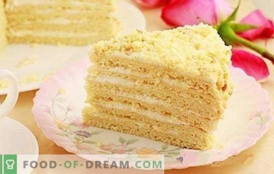 Classic sour cream cake - a tender dessert for all occasions. Classic sour cream cake with gelatin, cherry, cocoa, cinnamon